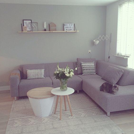 Lounge groen wit grijs gehoor geven aan uw huis - Deco woonkamer aan de muur wit ...