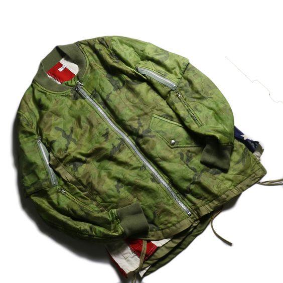 OLD PARK / F.L Flight Jacket (Camouflage-Lsize)全体