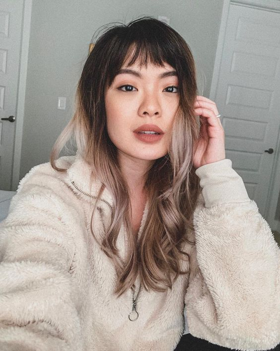 Choppy Bangs, Hairstyles to Try in 2020 | soyvirgo.com - baby bangs brown hair, chocolate hair ombre hair