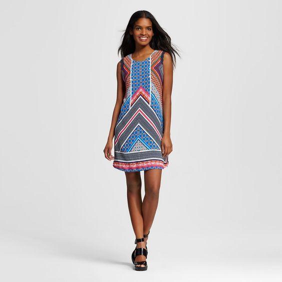 Women's Lace Shift Dress Blue
