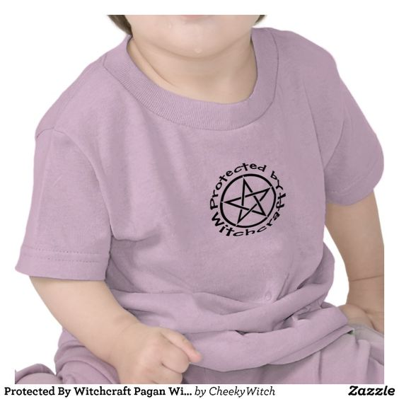Protected By Witchcraft Wiccan - Pagan Cheeky Witch Toddler T Shirt by www.cheekywitch.com #zazzle #witch #wicca #wiccan #pagan #pagankids