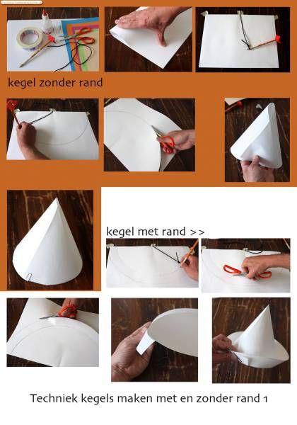 Hoed met rand van papier versieren met verschillende kleuren is misschien leuk om een - Versieren van een muur in ...