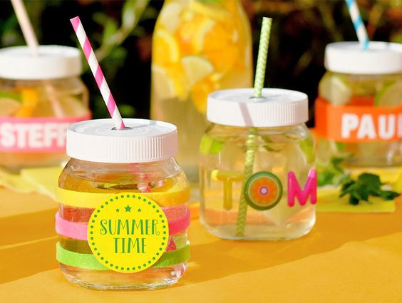 upcycling leere nutella gläser zu trinkgläsern: