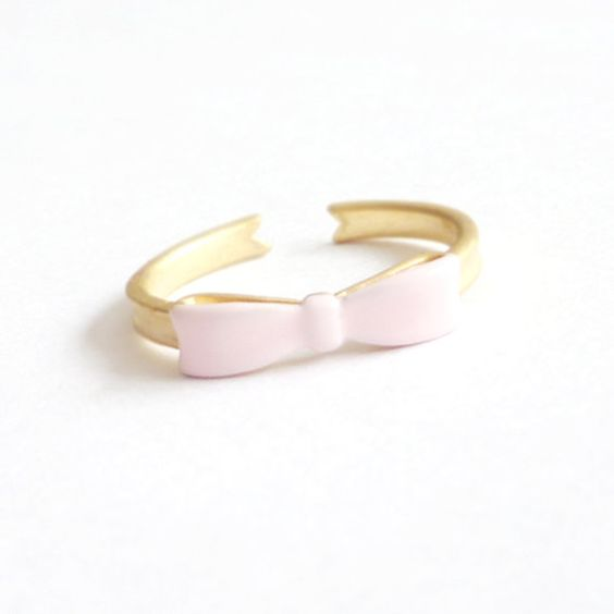 Pink Bow Ring. Adjustable Ring. Ribbon. Stackable Ring. Simple. Everyday Jewelry. Color Block. on Etsy, 124:10 kr