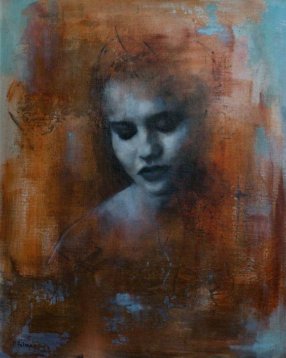 """Saatchi Art Artist Patrick Palmer; Printmaking, """"Portrait in Sienna - Giclee Prints"""" #art"""
