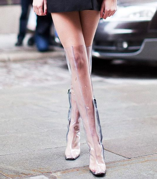 Clear Rain Boots - Cheap Monday: over the knee might be a bit much