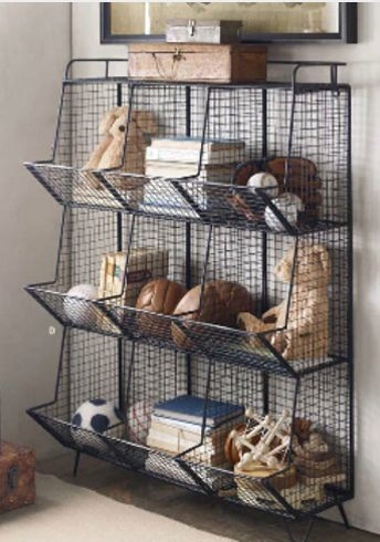 storage industrial restoration hardware- could this be found for less at a hardware store?: