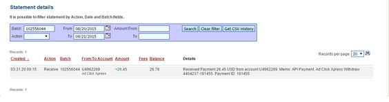 Here is my Withdrawal Proof from AdClickXpress. I get paid daily and I can withdraw daily. Online income is possible with ACX, who is definitely paying - no scam here. I WORK FROM HOME less than 10 minutes and I manage to cover my LOW SALARY INCOME. If you are a PASSIVE INCOME SEEKER, then AdClickXpress (Ad Click Xpress) is the best ONLINE OPPORTUNITY for you!! http://www.adclickxpress.com/?r=53mfr599h2rb&p=aa