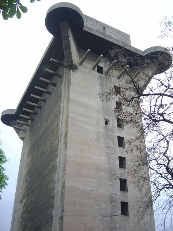 Berlin WW2 German flak tower - there were three of these giants in Berlin,the Soviet tank guns could not dent them. They held thousands of Berliners and were surrendered at war's end.