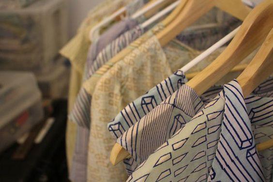 "Hand-printed fabrics, simple modern designs at start-up ""slow clothing"" line Rekh & Datta -  The Good Eye: Rekh & Datta Studio Photos - The Austin Chronicle"