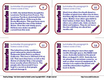 Summarising paragraphs