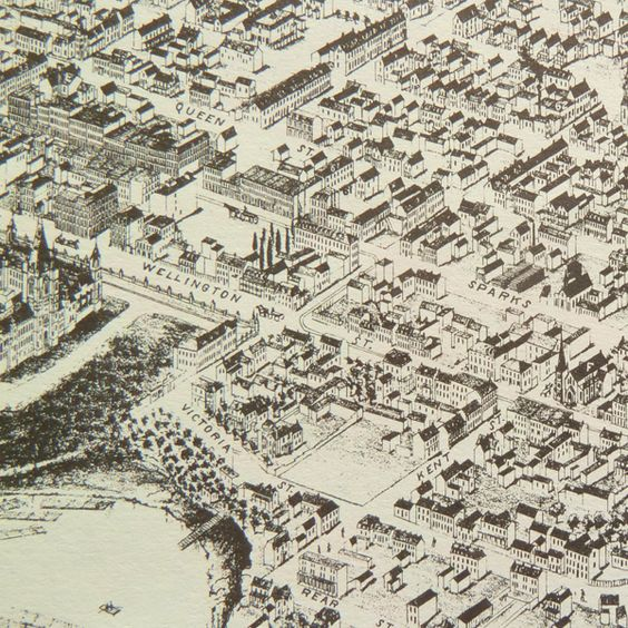 Historical map of Ottawa Ontario Aerial view of Ottawa showing – Aerial Street Maps