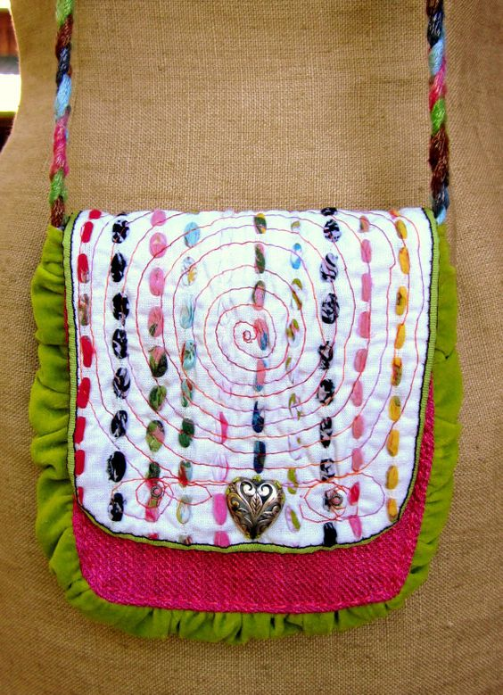 Handcrafted Purse Over the Shoulder by GreenLeavesBoutique on Etsy, $45.00