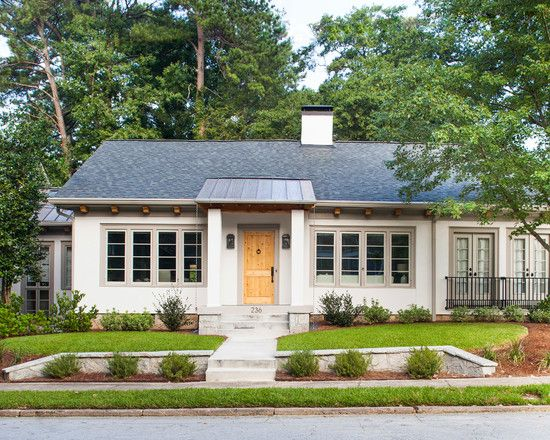 Houses Gorgeous Ranch House Curb Appeal Decorated Exterior Design