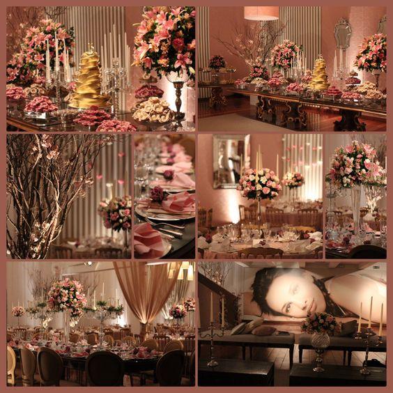 Festa de 15 anos rosa e fendi  Events designed by me Meu Portfolio! Pinterest 15 anos e  -> Decoração De Festas Com Xícaras