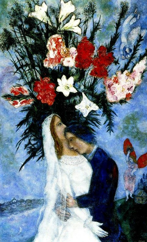 marc chagall paintings   En nuestra vida hay un solo color, como en la paleta de un artista ..