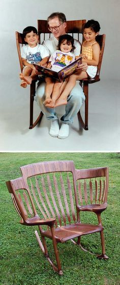 Hal Taylor designed and built this chair so he could read to his three children.