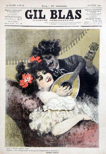 Gil Blas vintage magazine cover
