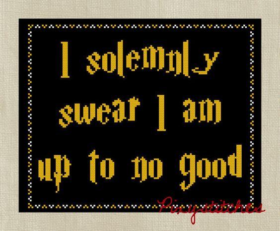 Harry Potter I Solemnly Swear #HP #HarryPotter #Harry #Potter #Cross #Stitch
