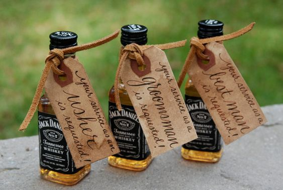Will you be my Groomsman, Best Man, Usher - Wedding Party Tags - Hand Calligraphy