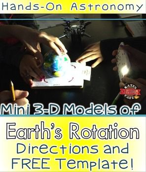 Day and Night Earth Science 3D model directions and template that engages students in thinking about how the Earth experiences day and night, sunrise and sunset and time zones.  I'm sharing this with you because it was such a hit with my 6th graders and I hope that your students like it too!*******************************************************************************Free download includes:Pictures of the model I made with my classPrintable templateAssembly DirectionsLesson IdeaSample…