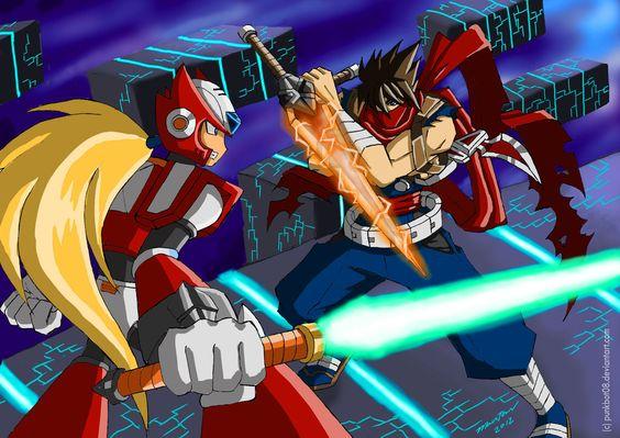 Strider Hiryu vs. Zero by punkbot08.deviantart.com on @DeviantArt