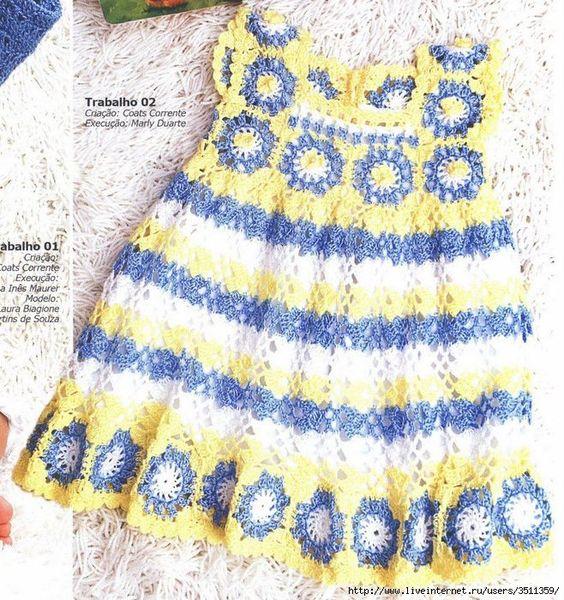 Flower Dress free crochet graph pattern
