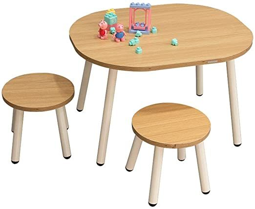 Lchao Furniture Wooden Activity Table Chair Learning Activity Table Baby Play Table Toy Infant Activi In 2020 Wooden Table And Chairs Baby Play Table Kids Dining Table