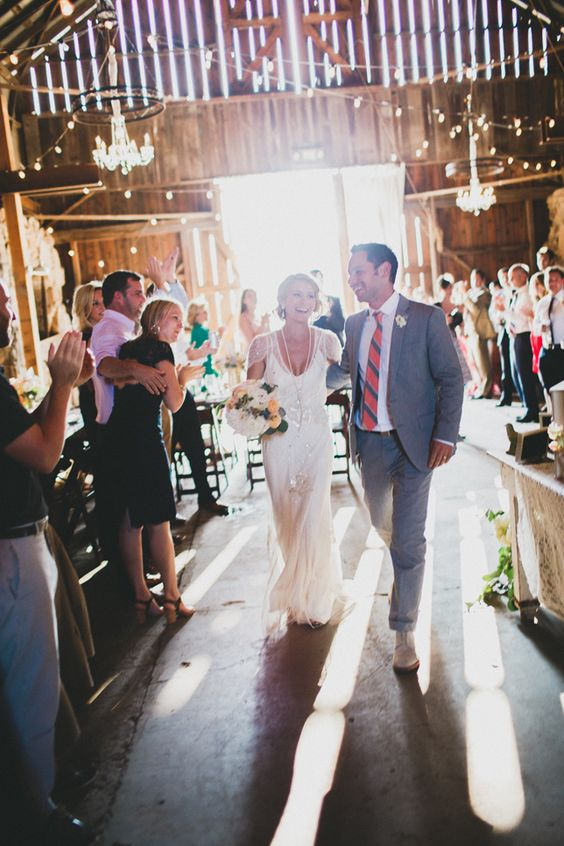 Your exit down the aisle.  Must have wedding photo! Add this to the list to make sure your photographer captures the moment.