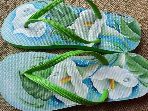 Aprenda a técnica de customizar chinelos havaianas com pintura - passo a passo