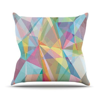 """KESS InHouse Graphic 32 by Mareike Boehmer Rainbow Abstract Throw Pillow Size: 20"""" H x 20"""" W x 4"""" D"""