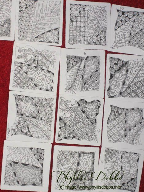 Zentangle ideas. I need to this with my line stamps.
