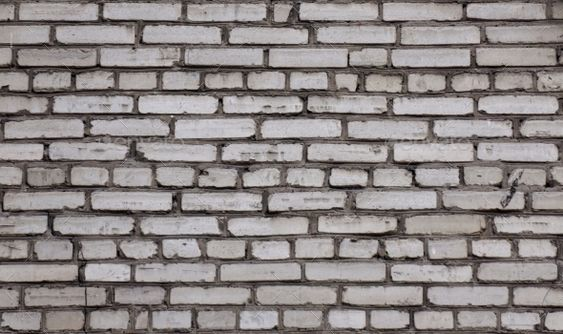 Old White Brick Wall. The Wall Of The Old Brick - Stone Textures