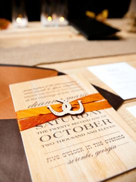 Cowboy couture wedding invitations http://meanttobesent.com/collections/custom/