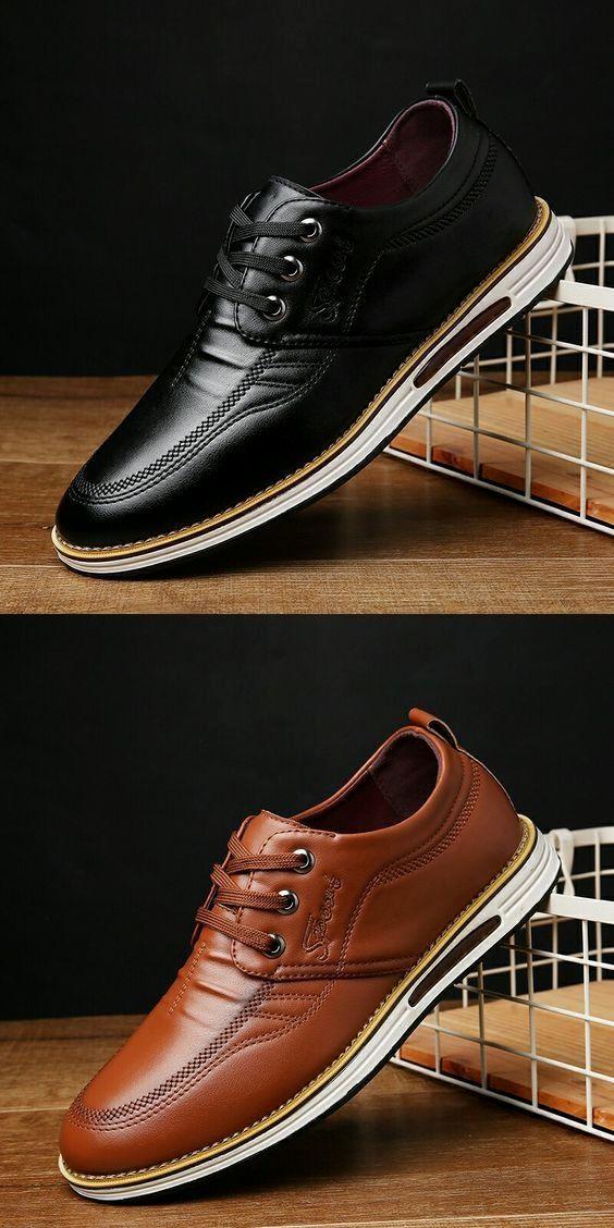 Men Shoes Mens Patent Leather Dress Shoes Mens Brown Leather