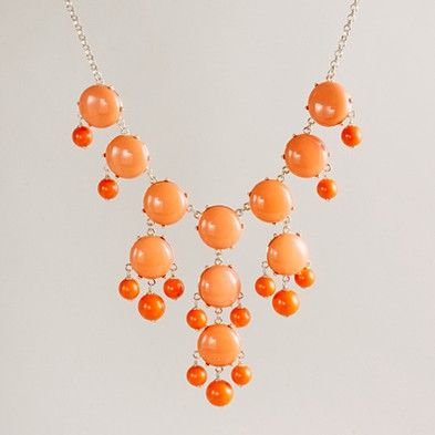 J. Crew bubble necklace in sweet papaya $150