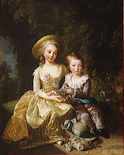 Louis-Xavier et Marie-Thérèse de France