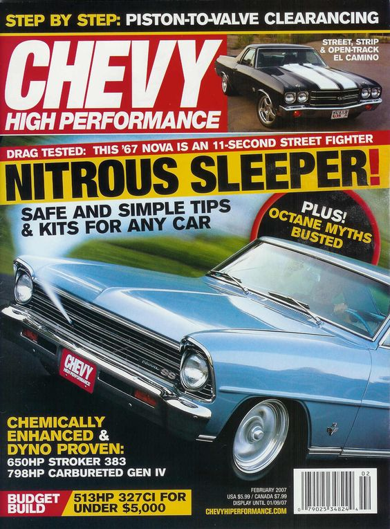 Chevy High Performance Magazine : Magazines | Drive Away 2Day  http://blog.driveaway2day.com/2012/10/chevy-high-performance-magazine.html