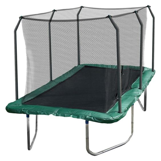 8 X 14 Rectangle Trampoline Green: Skywalker Rectangle Trampoline With Enclosure