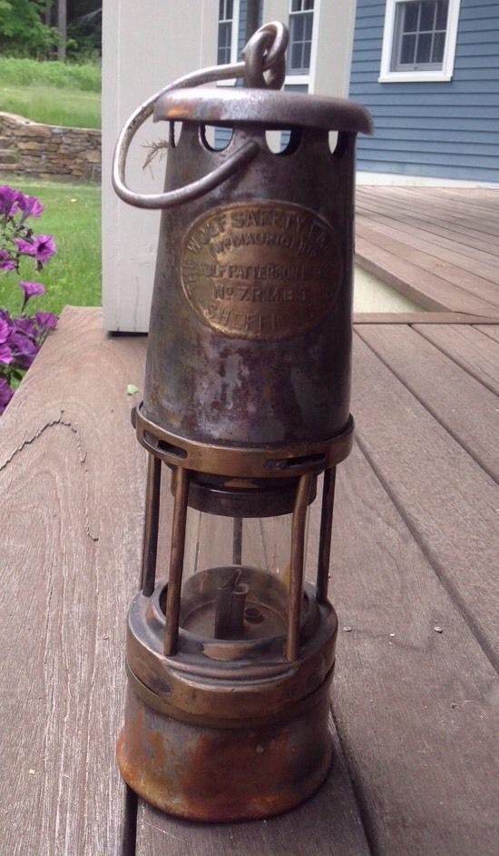 Vintage Miners Wolf Patterson Flame Safety Lamp Lantern No 7