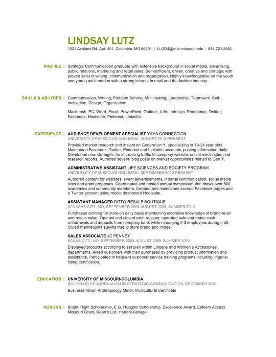 Strategic Communication Social Media Retail Merchandising - merchandising resume examples