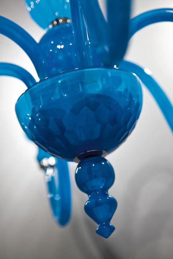 Italamp Kronleuchter aus Kristall 222/6/Turchese - Hängeleuchten - Contemporary - ITALAMP Cult Edition - Beleuchtung - Online Geschäft - Sfera srls