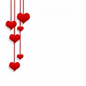 Valentines Day Red Hearts Hanging Png And Psd Valentines Day Clipart Valentine Backdrop Valentine
