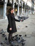 Feeding the Pigeons in Venice at St. Marks Square