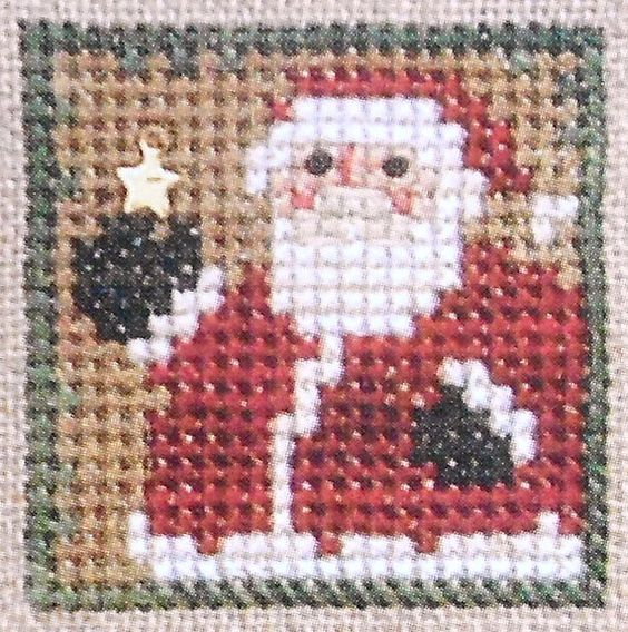 Bent Creek THE LITTLES Santa Claus - Counted Cross Stitch Pattern Chart
