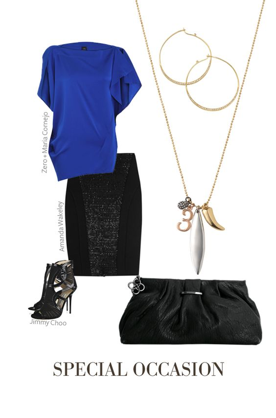 Add a little personality to your cocktail attire with the Third Time's a Charm Necklace.  We love how the mixed metal charms pop against a bright silk top.  Finish the look with our Heiress Hoop Earrings in gold, and La Coco Clutch in black for a fabulously chic night out. Shop: www.stelladot.com...