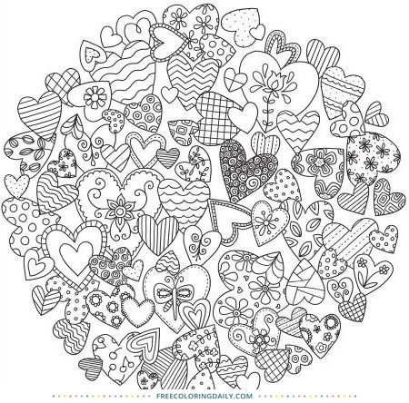 Welcome To Free Coloring Daily Thank You For Visiting Today Enjoy This Coloring Page Coloring Is A Great W Heart Coloring Pages Coloring Cafe Coloring Books
