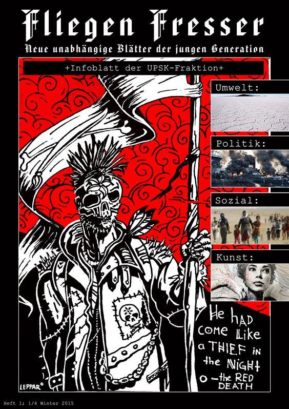 Ein Coverdesign für eine fiktive Zeitschrift | Fliegenfresser 1 - radikale Version (Das Beispiel fr einen Beitrag für Kunst ist von Gabriel Moreno)