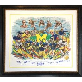 """Michigan Sports Hall of Fame 2013 Hall of Heroes Collector's Series """"Hail to the Victors"""" by Doug West."""
