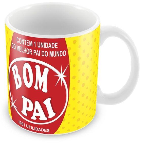 Caneca Porcelana Personalizada Pai Bombril 1001 Utilidades - ArtePress | Brindes Personalizados, Canecas, Copos, Xícaras: